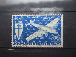 VEND BEAU TIMBRE DE POSTE AERIENNE DE LA COTE FRANCAISE DES SOMALIS N° 5 !!! - French Somali Coast (1894-1967)