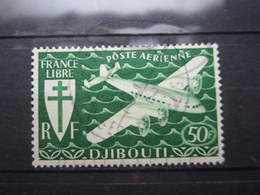 VEND BEAU TIMBRE DE POSTE AERIENNE DE LA COTE FRANCAISE DES SOMALIS N° 6 !!! - French Somali Coast (1894-1967)