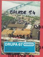 DRUPA 67 - Rendez-vous Des Imprimeurs Du Monde - DUSSELDORF - Belle Vue Aérienne - Cachet 30 5 1967 - Duesseldorf