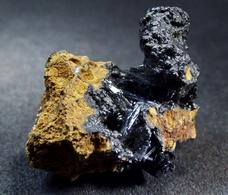 Vivianite Var. Kerchenite With Goethite ( 3 X 1.5 X 1 Cm.)  - Kerch -  Crimea Peninsula, Crimea Oblast', Ukraine. - Mineralen