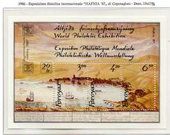 """PIA  -  FAROER  -  1986  : """"Hafnia 87"""" - Esposizione Filatelica Internazionale A Copenhagen  -  (Yv Bf 2) - Isole Faroer"""