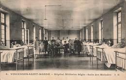 94 Saint Mandé Vincennes Hopital Militaire Begin Salle Des Malades Carte Ecrite En 1916 - Saint Mande