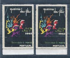 Vinhetas Da Queima Das Fitas Da Universidade Do Porto De 1961. Vignettes Of Burning Of Ribbons Of University Of Porto. - Emissions Locales
