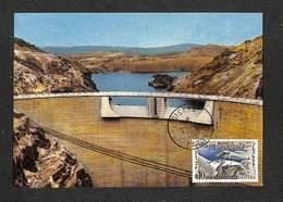 ALGÉRIE - Carte Maximum 1963 - BISKRA - BATNA - Barrage De FOUM EL GHERZA - Tarjetas – Máxima