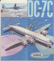Rare Sabena Superbe Dépliant Plan Douglas DC-7C En Italien - Advertisements