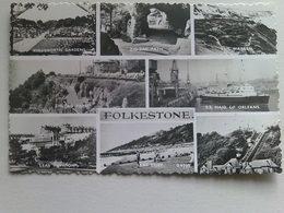 1957  Black And White  Postcard -  Multi View, Folkestone - Folkestone