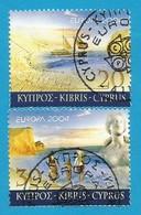 Zypern  2004  Mi.Nr. 1035 / 1036 A , EUROPA CEPT - Ferien - Gestempelt / Fine Used / (o) - Europa-CEPT