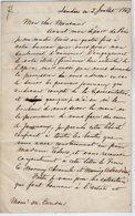 VP14.837 - Opéra - LONDRES 1853 - LAS - Lettre Autographe Mr J.Thomas FRANCO ? - Autographes