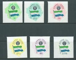 Sierra Leone 1971 10 Year Independence Anniversary Self Adhesive Set Of 6 MLH - Sierra Leone (1961-...)