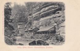 AK - Tschechien - EDMUNDSKLAMM (Kamnitzklamm) I/d Sächs.-Schweiz - Gasthaus BLOCKHAUS 1900 - Tschechische Republik