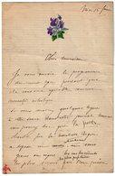 VP14.838 - Musique - NICE - LAS - Lettre Autographe Mr A . POLLONNAIS - Autographes