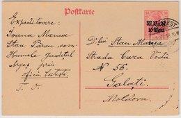 Dt.Mil.Verw.Rumänien - 10 B. A.10 Pfg. Germania, GA-Karte Bukarest - Galati 1918 - Occupazione 1914 – 18