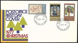 1977 - NEW ZEALAND - FDC + SG 1153/1155 [X-mas] + WANGANUI - FDC