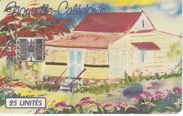 TARJETA DE NUEVA CALEDONIA DE 25 UNITES DE UNA CASA TIRADA 145000 - New Caledonia