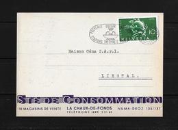 HEIMAT NEUENBURG → 1949 Societe De Consommation La Chaux-de-Fonds Nach Liestal - Suisse
