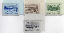 PIA  -  FAROER  -  1987  : Antiche Fattorie Del 19° Secolo -  (Yv 139-42) - Isole Faroer
