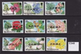 Montserrat 1976 Officlas 9 Vales To $5 - Montserrat