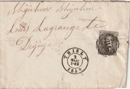 COB N ° 10A Sur Pli De Thielt P115 Vers Deynze - 1858-1862 Médaillons (9/12)