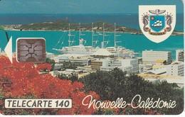 TARJETA DE NUEVA CALEDONIA DE 140 UNITES DE EL PUERTO TIRADA 12500 DEL 05/94 - New Caledonia