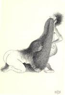 Albert DUBOUT - Editions Jean Dubout N'D 75 - Grivoises - Femme Forte - Cheveux - Dubout