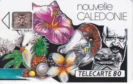 TARJETA DE NUEVA CALEDONIA DE 80 UNITES DE UN MOSIACO DE BERNARD TIRADA 45000 - New Caledonia