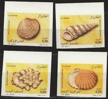 Non-dentelé/Année 2002-N°1328/1331 Neuf**MNH/imperforate : Coquillages : Série Complète  (m2) - Algérie (1962-...)