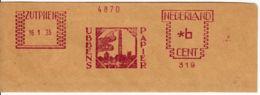 PAYS-BAS - 1935 -  Ubbens Papier Sur Fragment - Lettres & Documents