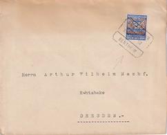 PAYS-BAS 1928LETTRE AVEC CACHET FERROVIAIRE/ZUGSTEMPEL AMSTERDAM-BENTHEIM - 1891-1948 (Wilhelmine)
