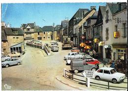ROSTRENEN La Place  Cm Cl. 8.38 (pli Haut Gauche, Autos Années 60) - France