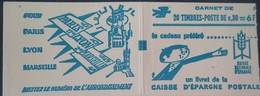 R1949/529 - TYPE MARIANNE DE CHEFFER - CARNET NEUF** De 20t  N°1536-C1 (conf.5) - Carnets