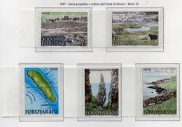PIA  -  FAROER -  1987  :  Isola Di Hestur -   (Yv 148-52) - Vacanze & Turismo