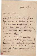 VP14.839 - Musique - Orgue - LAS - Lettre Autographe Mr C. B ?? Organiste - Autographes