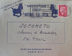 R1949/533 - TYPE MARIANNE DE CHEFFER N°1536B Sur ✉️ à Entête PUBLICITAIRE - LIGNY-EN-BARROIS à TOUL / 16 OCT 1969 - 1967-70 Marianne De Cheffer