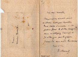 VP14.840 - Musique - LAS - Lettre Autographe Mr ROMAND ?? à Mr VERTEUIL - Autographes