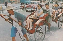 Hong Kong , China , 60-80s ; Rickshaws - China (Hong Kong)