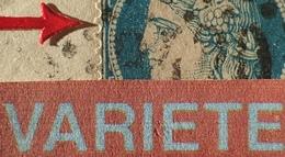 R1917/152 - CERES (PAIRE) N°37 Sur ✉️ De SOISSONS à CHATEAU-THIERRY - VARIETE ➤➤➤ Filet Ouest Du Timbre Gauche Enfoncé - 1870 Siège De Paris
