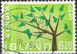 ICELAND 1962 Europa - 6k50 Europa Tree FU - Oblitérés
