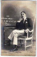 Carte Photo. Homme Assis. Fotografia PASCALE Corrientes Y Buenos Aires - Men