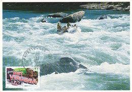 D36852 CARTE MAXIMUM CARD 2002 USA - RAFTING WEST VIRGINIA CP ORIGINAL - Rafting