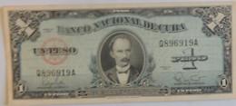 Billet De Cuba De 1 Peso 1960 Pick 77 Neuf/UNC - Cuba