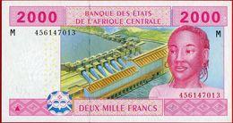 CENTRAL AFRICAN REPUBLIC. 2000 Francs. 2002. Pick 308M. UNC - Central African Republic