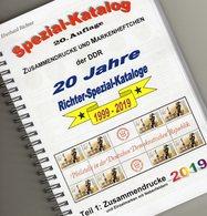 ZD DDR 2019 Katalog Teil 1 RICHTER New 25€ Aller Zusammendruck Varianten Zf+Lf Se-tenants Special Catalogue Germany - Crónicas & Anuarios