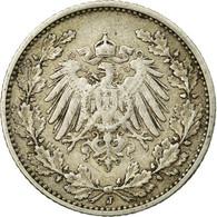 Monnaie, GERMANY - EMPIRE, 1/2 Mark, 1906, Hambourg, TTB, Argent, KM:17 - [ 2] 1871-1918 : Empire Allemand