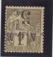 NOUVELLE-CALÉDONIE : N° 10 A . * . 1886 . TB . SURCHARGE RENVERSÉE . - Nueva Caledonia