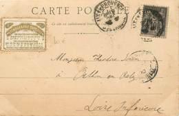 """MARCOPHILIE VIGNETTE Sur CPA FRANCE 13 """"Aix En Provence"""" - Vignettes De Fantaisie"""