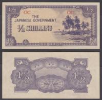 Oceania 1/2 Shilling ND 1942 UNC CRISP Banknote Japanese Occ. WWII P-1 - Bankbiljetten
