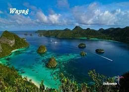 Indonesia Raja Ampat Wayag Island Aerial View New Postcard Indonesien AK - Indonesien