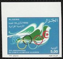 Non-dentelé/Année 1998-N°1178 Neuf**MNH/imperforate : 35e Anniversaire Du Comité Olympique Algérien-(m2) - Algeria (1962-...)