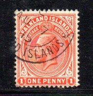 APR684 - FALKLAND 1912 , Yvert N. 27  Usato  (2380A) . - Falkland
