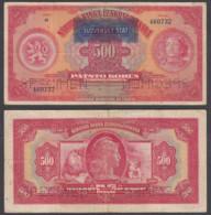 Slovakia 500 Korun 1929 (VF) Condition Banknote SPECIMEN Banknote P-2s - Slovakia